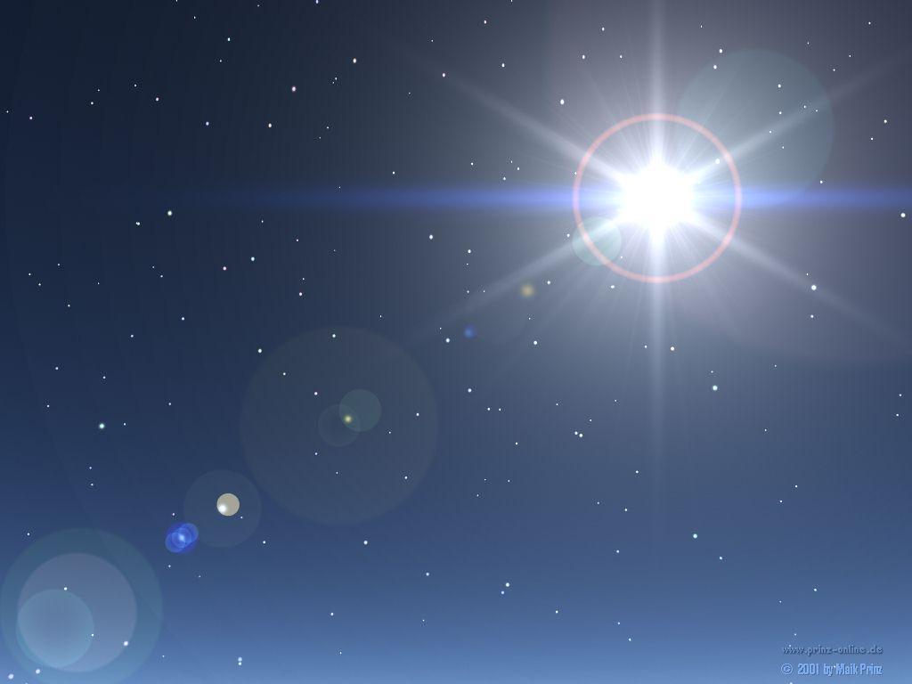 estrela brilhante iluminando